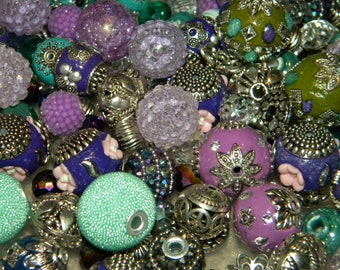 NEW 20/pcs Purple/Green/Teal MIX  Jesse James Loose Assorted Random Mixed Bag of different