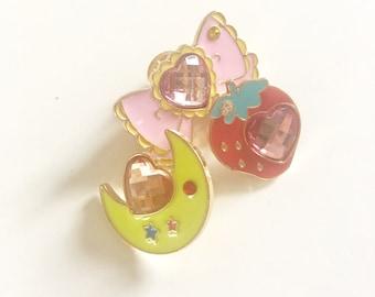 Sailormoon style pin trio