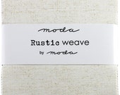 Rustic Weave Charm Pack, Moda Fabric, Precut, 5 Inch Squares, Solid Fabric