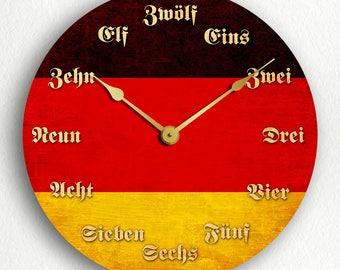 Flag of Germany German Flag Silent Wall Clock