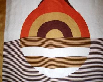P.L.Gallieni vintage scarf, geometric print