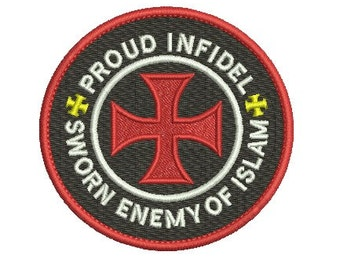 proud infidel embroidery design