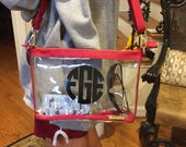 Clear crossbody purse personalized any way you want! Stadium approved