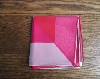 Vintage Sheer Mod Pink Scarf