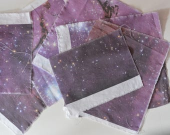 Galaxy Fabric Squares