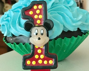 3 inch tall Mickey Mouse candle - any number!
