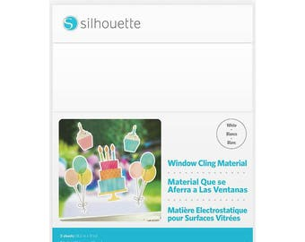 Silhouette Printable WINDOW CLING - WHITE