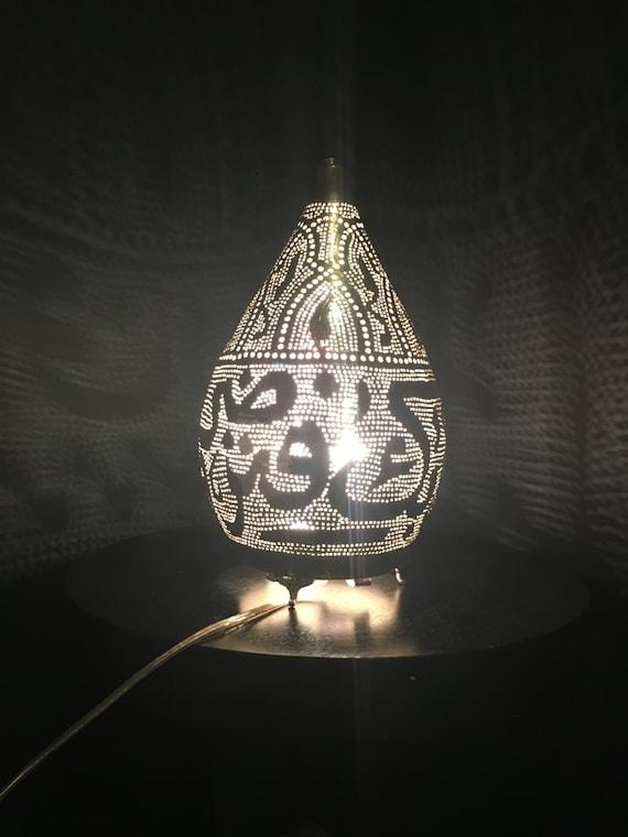Handgefertigte marokkanische tischlampe mit arabischer for Marokkanische tischlampe