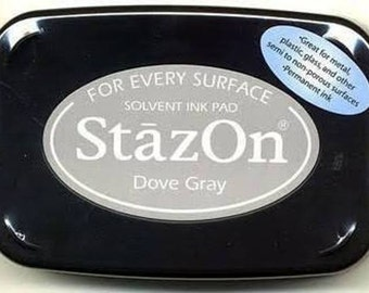 Tsukineko StazOn Solvent Based Ink Pad - Dove Gray SALE SALE SALE
