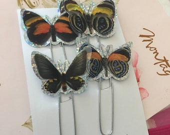 Dimensional butterfly bookmarks