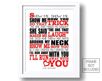 Song Lyrics The Cure Just Like Heaven Print Typography song music lyric for framing ( No Frame )