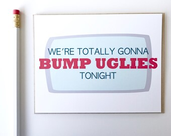 Funny Valentine's Day Card. Valentines Day Card. Bump Uglies. Card for love.