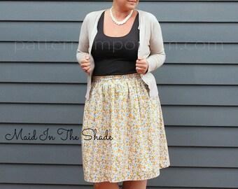 PATTERN Ladies Gathered Skirt - PDF Sewing Pattern - Instant Download - Pattern Emporium