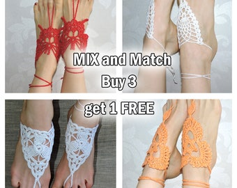 SALE. Buy 3 Barefoot sandals Get 1 FREE. Barefoot Sandals Discount. Mix and Match Barefoot