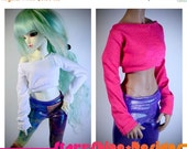 Sale 20% Off BJD MSD 1/4 Doll clothing - Long-Sleeve Crop Top - Your Choice of 20 Colors