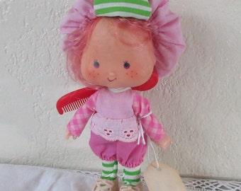 Vintage American Greetings Strawberry Shortcake Raspberry Tart Doll  5 inch  Doll 1980s Epsteam