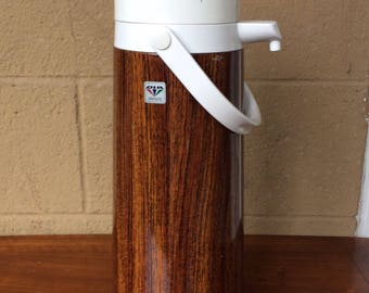 70's Diamond Brand Faux Woodgrain Beverage Pump, 15""