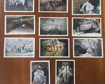 Set of 11 Unused Vintage Postcards, Woodward Cave, Woodward, PA, 4x6