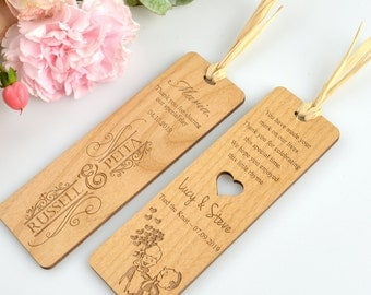 25 x Wooden Engraved Laser-Cut Bookmark