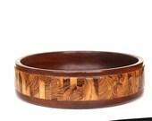 Vintage Wood Bowl - Wooden Bowl - Vintage Wood Fruit Bowl - Modern Wood Bowl - Mid Century Modern Bowl -Mid Century Modern Decor - Wood Gift