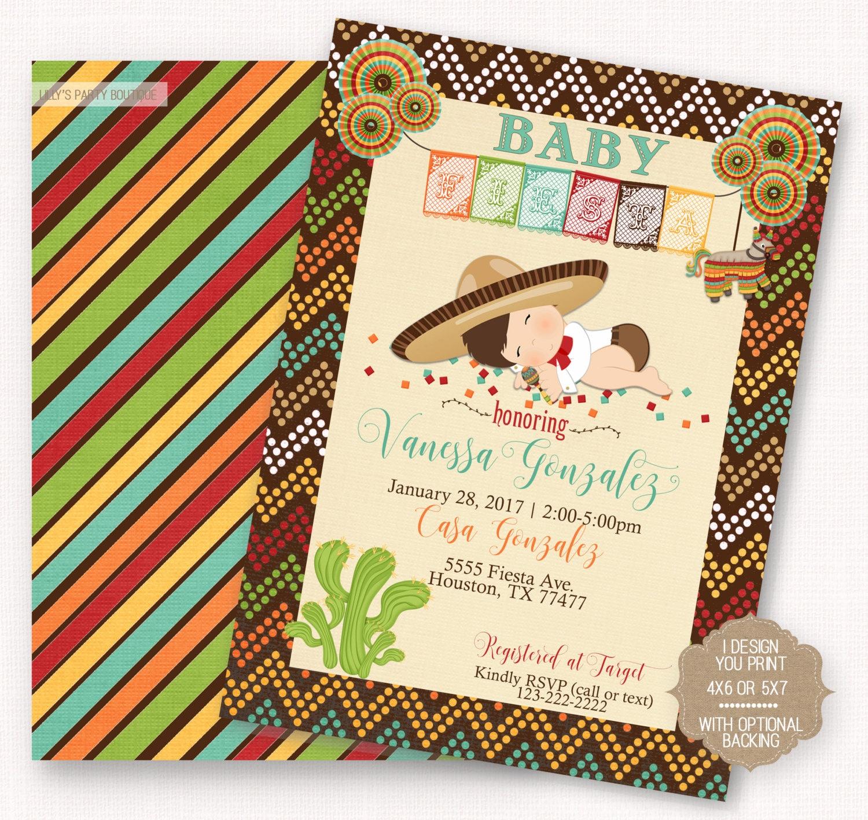 Fiesta baby shower fiesta mexican baby fiesta invite boy - Fiesta baby shower ...