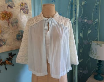 Vanity Fair Lace and Nylon Bed Jacket