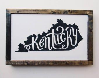 Kentucky State Wood Sign, Kentucky Decor, Home Wall Decor