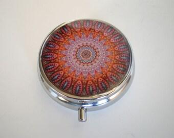 Pill box, Pill case, Mandala pill box, Pill container, Jewelry box, Mint case, Pills, Mandala