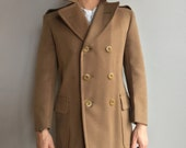 WW2 Army Officers Regulation Overcoat/Peacoat Size 36 Olive Drab Wool