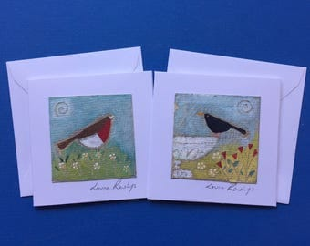 Handpainted mini cards