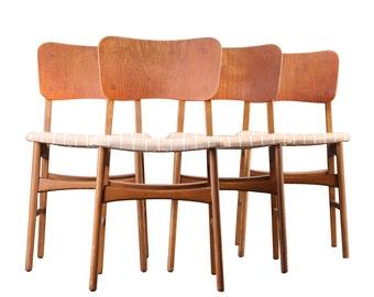 Kofod Larsen Teak Dining Chairs Danish Mid Century Modern