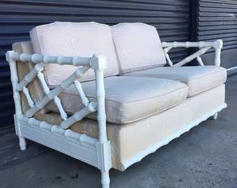 Vintage Faux Bamboo Love Seat
