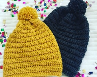 Kids And Adult Size Crochet Beanies, Crochet Beanies, Beanies For Kids And Adults, Slouch Crochet Beanies, Crochet Beanies for Babies,