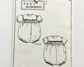 B & B Blueprints Beautiful Baby Bubble, Babies' Romper Pattern, Infant, Toddler Playsuit, Size 3 mo. To 4, Vintage Uncut