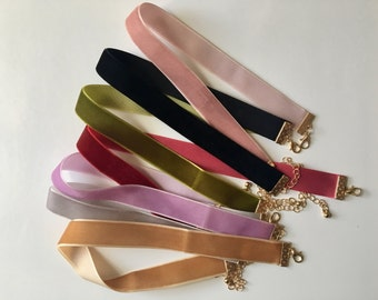 90's Multi- Color Simple and Cutw Velvet Choker -SOFT- -CUTE- -PERFECT-