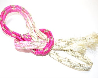 OBIJIME STRAP C86a - Lovely 2 Tone Cherry Pink-Gold - 160299