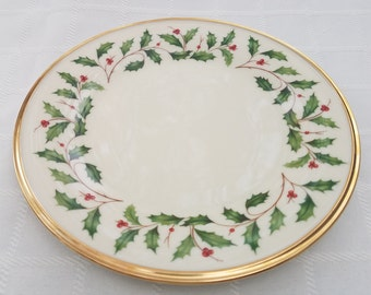 Lenox Holiday Dinner Plate & Lenox Holiday Dinner Plate Replacement