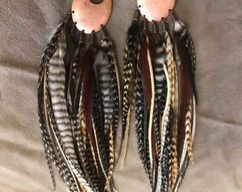 Crazy For Copper and Colors Feather Earrings