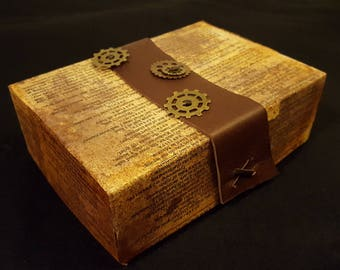 Steampunk Leather Treasure Box