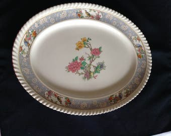 "12"" Oval Serving Platter in The Vigo (Ribbed,Old English) by Johnson Brothers"