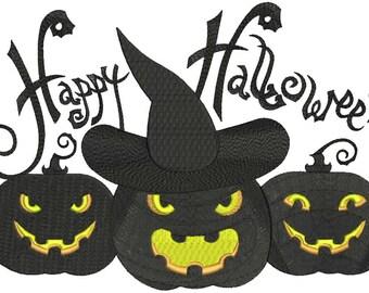 Happy Halloween Machine Embroidery Designs INSTANT DOWNLOAD