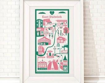 East Dulwich print / London illustration