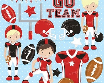80% OFF SALE American football clipart commercial use, football vector graphics, super bowl digital clip art, digital images - CL725