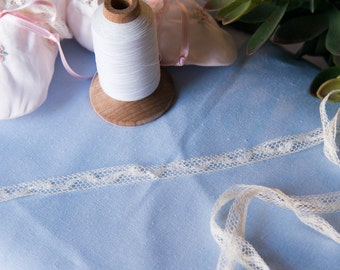 """French Valenciennes Lace- 1/2"""" insertion"""