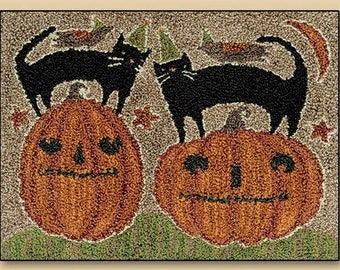 Punch Needle - Halloween Duo - Choose Pattern Only or Pattern with Floss Kit