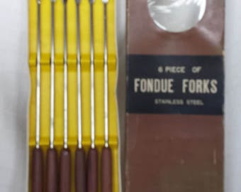 Set of Stainless Fondue Forks