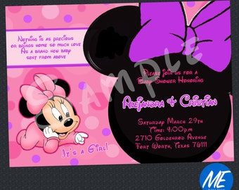 Minnie Mouse Baby shower Invitation - printable