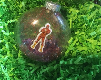 The Flash DC Comics Christmas Glitter Ornament Great Gift glass