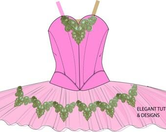 Size 8-10 Childrens stretch tutu pattern PDF