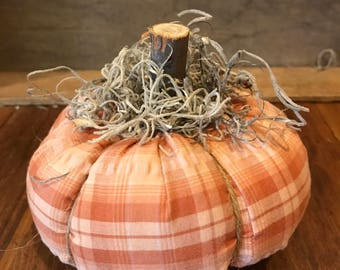 Plaid Primitive Pumpkin #1 (medium size)